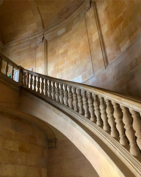 Even Fibonacci would be impressed by this curved staircase within the central plaza.